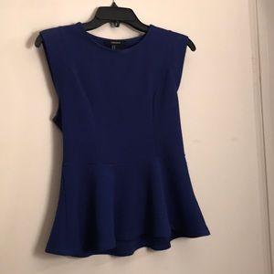 Dark blue peplum blouse